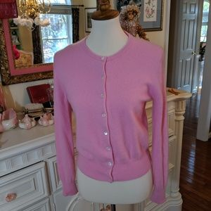 Saks fifth Ave pink cashmere sweater cardigan